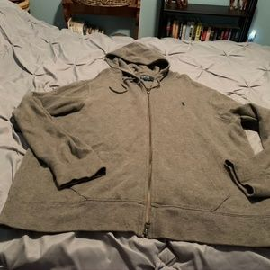 RALPH LAUREN Men's Full Zip Up Hoodie. Size 2XL